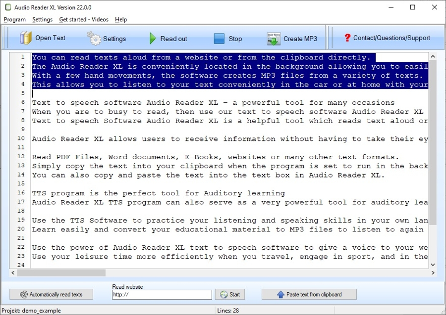 pdf audio reader