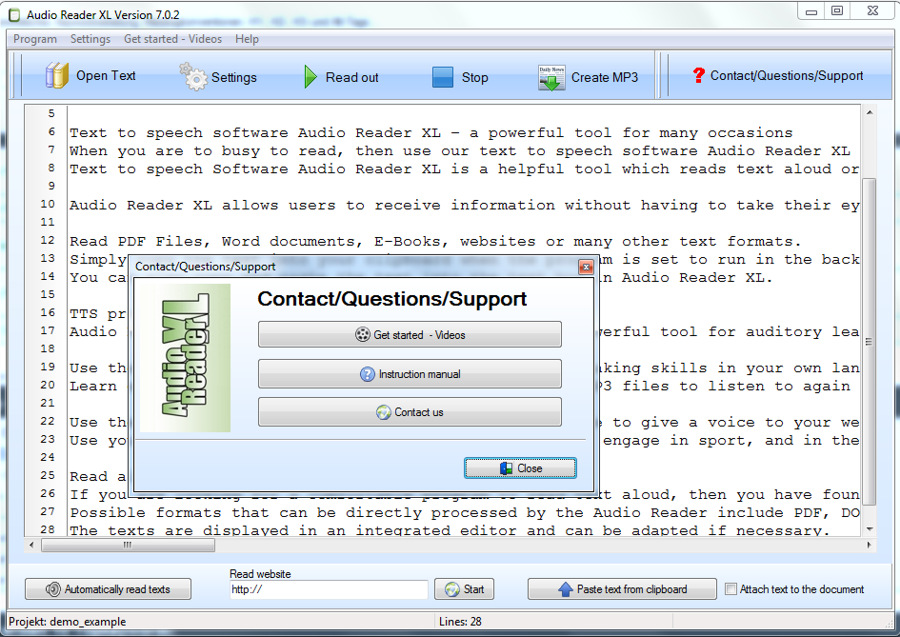 Text To Speech Software 2021 Audio Reader Xl Natural Voice Free Download