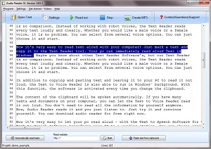 Text to Speech Software 2019 Audio Reader XL Natural Voice