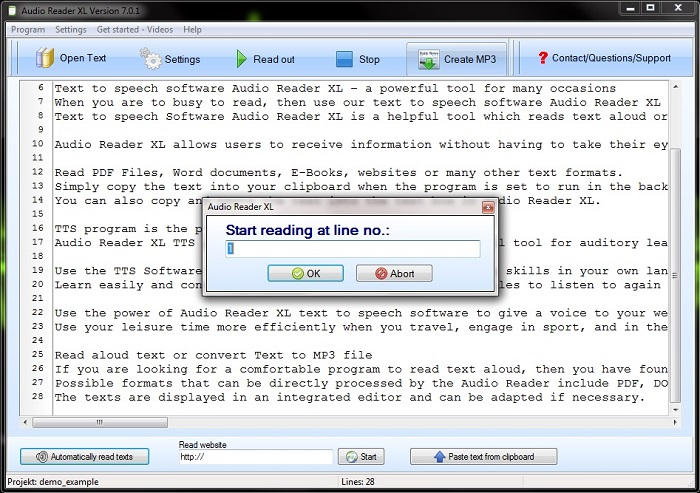 text reader free download